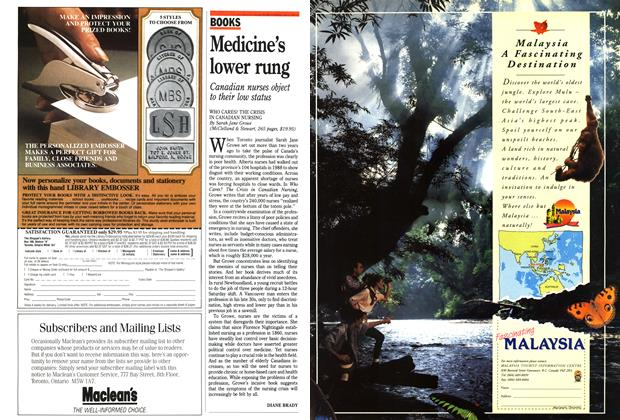 Article Preview: Medicine's lower rung, April 1991 | Maclean's