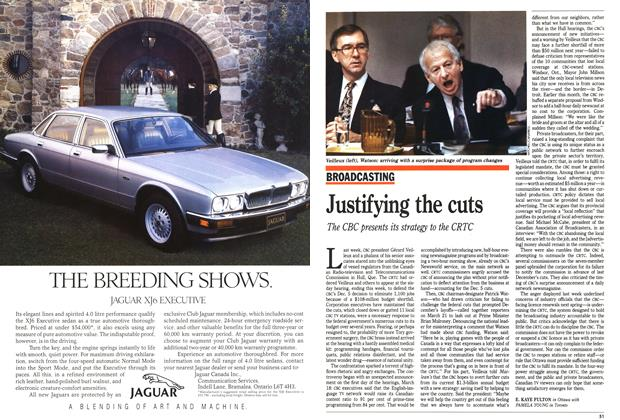 Article Preview: Justifying the cuts, April 1991 | Maclean's