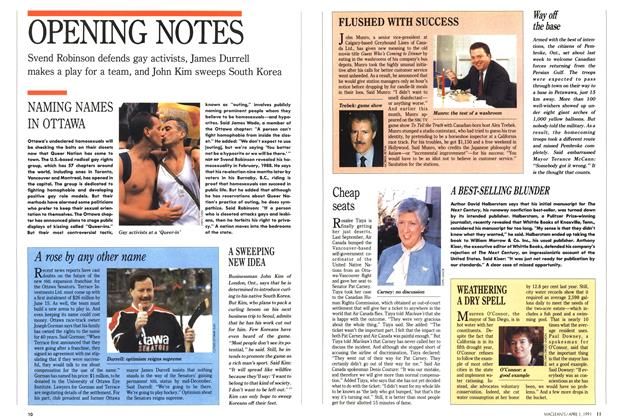 Article Preview: OPENING NOTES, April 1991 | Maclean's