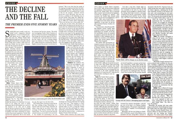 Article Preview: THE DECLINE AND THE FALL, April 1991 | Maclean's