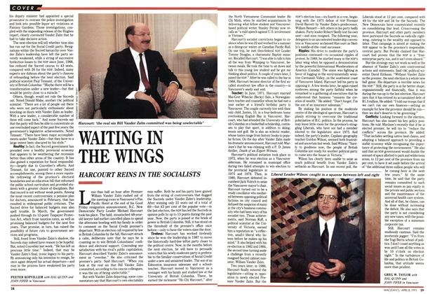 Article Preview: WAITING IN THE WINGS, April 1991 | Maclean's
