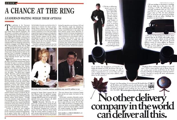Article Preview: A CHANCE AT THE RING, April 1991 | Maclean's