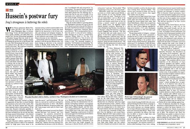 Article Preview: Hussein's postwar fury, April 1991 | Maclean's