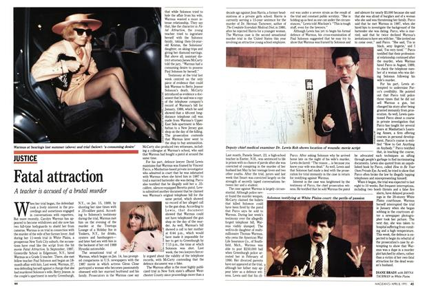 Article Preview: Fatal attraction, April 1991 | Maclean's