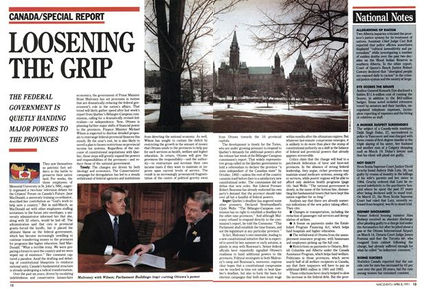 Article Preview: LOOSENING THE GRIP, April 1991 | Maclean's