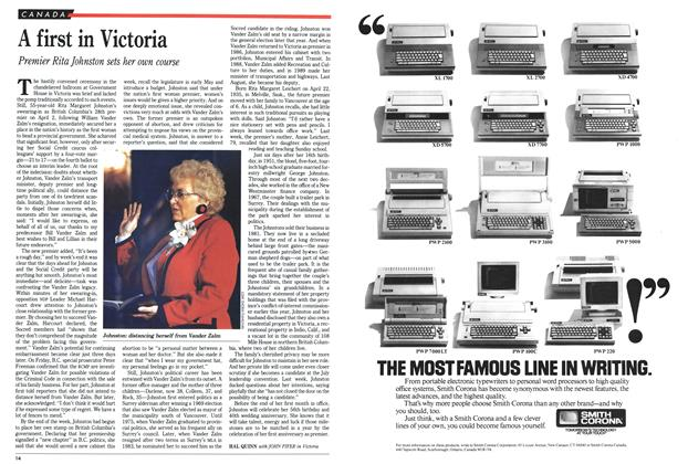 Article Preview: A first in Victoria, April 1991 | Maclean's