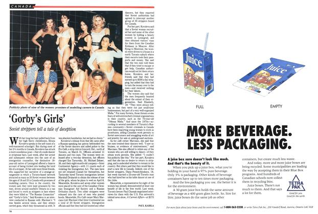 Article Preview: 'Gorby's Girls', April 1991 | Maclean's