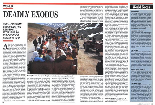 Article Preview: DEADLY EXODUS, April 1991 | Maclean's