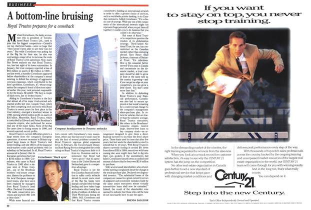 Article Preview: A bottom-line bruising, April 1991 | Maclean's