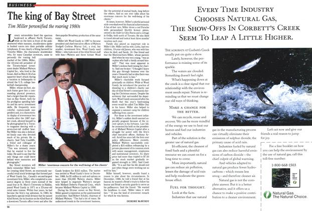 Article Preview: The king of Bay Street, April 1991 | Maclean's