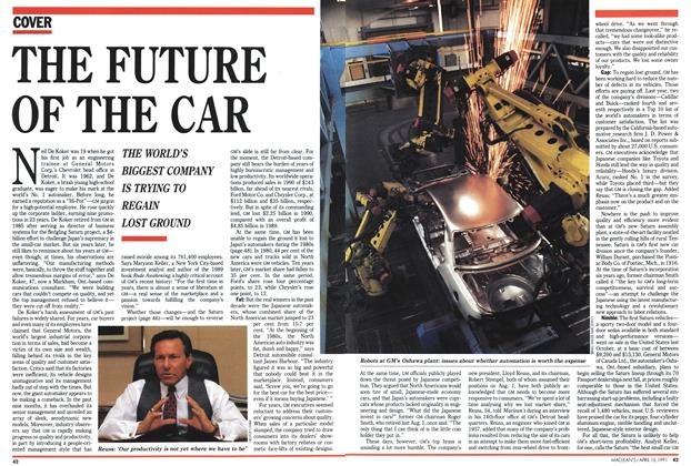 Article Preview: THE FUTURE OF THE CAR, April 1991 | Maclean's