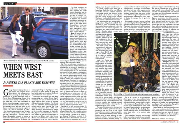 Article Preview: WHEN WEST MEETS EAST, April 1991 | Maclean's