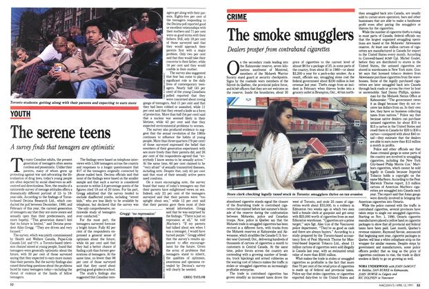 Article Preview: The serene teens, April 1991 | Maclean's