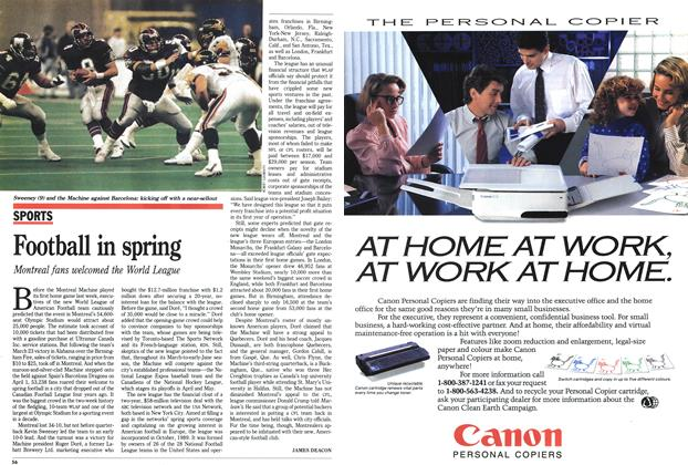 Article Preview: Football in spring, April 1991 | Maclean's