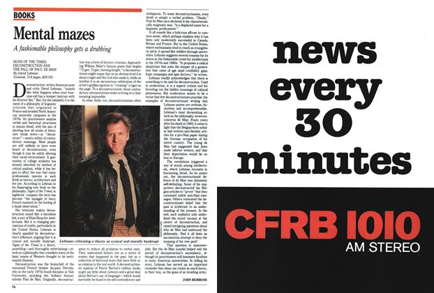 Article Preview: Mental mazes, April 1991 | Maclean's