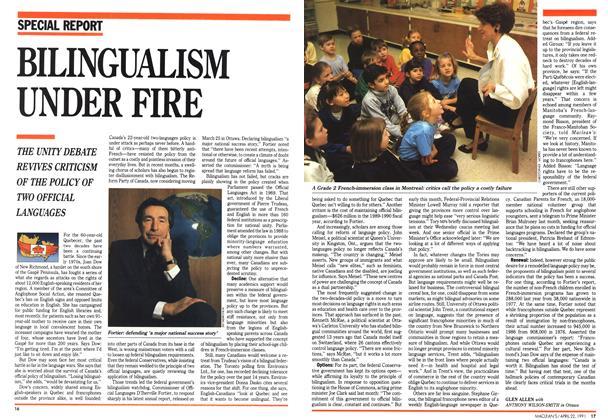 Article Preview: BILINGUALISM UNDER FIRE, April 1991 | Maclean's