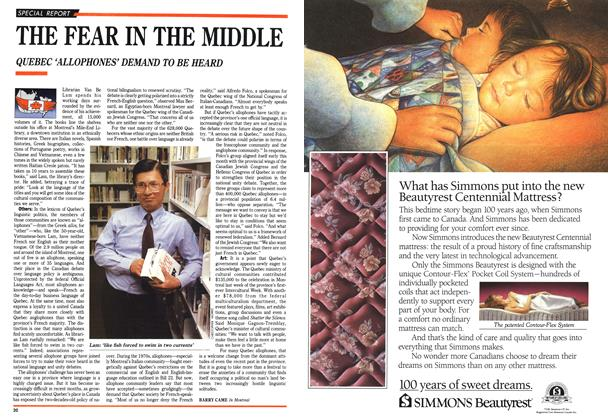 Article Preview: THE FEAR IN THE MIDDLE, April 1991 | Maclean's
