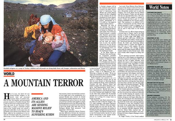 Article Preview: A MOUNTAIN TERROR, April 1991 | Maclean's