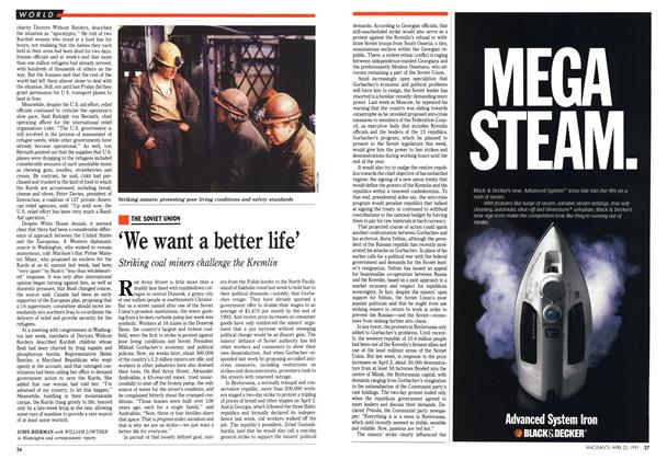 Article Preview: 'We want a better life', April 1991 | Maclean's