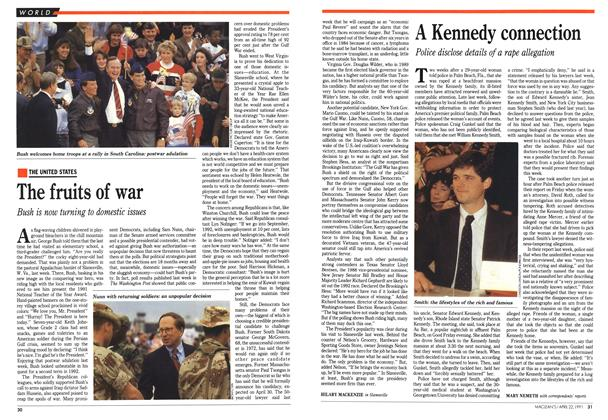 Article Preview: A Kennedy connection, April 1991 | Maclean's