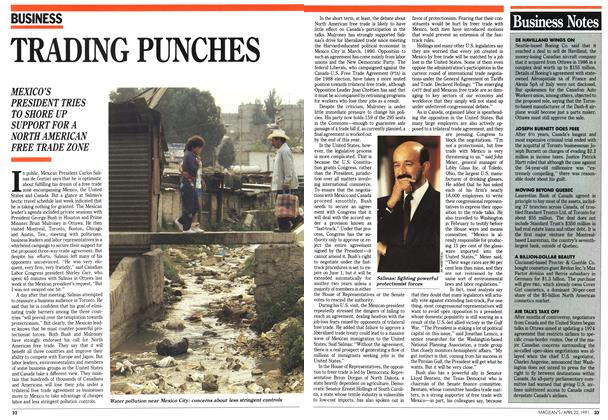 Article Preview: TRADING PUNCHES, April 1991 | Maclean's