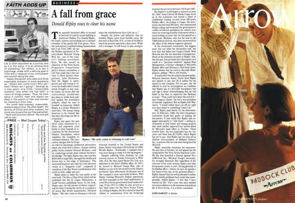Article Preview: A fall from grace, April 1991 | Maclean's