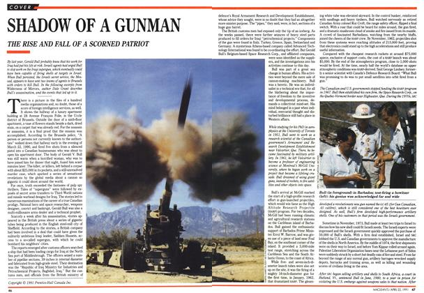 Article Preview: SHADOW OF A GUNMAN, April 1991 | Maclean's
