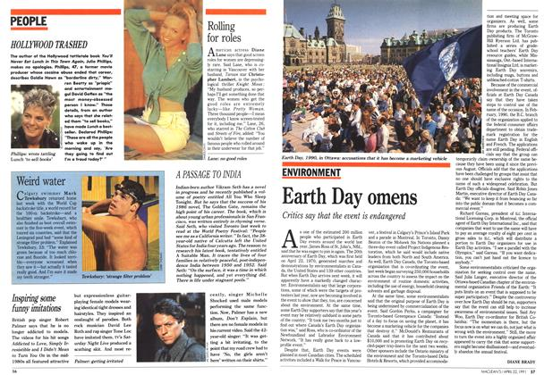 Article Preview: Earth Day omens, April 1991 | Maclean's