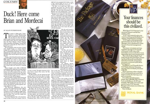 Article Preview: Duck! Here come Brian and Mordecai, April 1991 | Maclean's