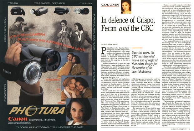 Article Preview: In defence of Crispo, Fecan and the CBC, April 1991 | Maclean's
