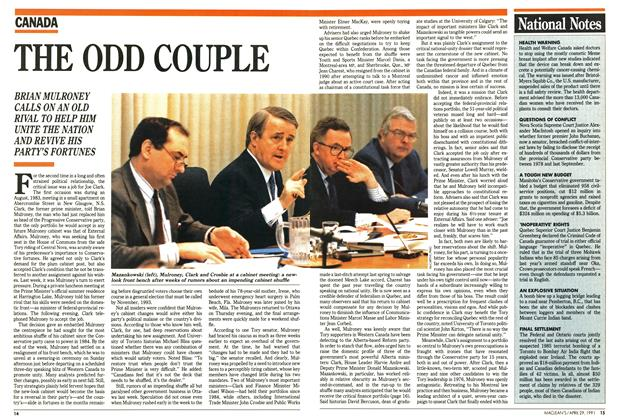 Article Preview: THE ODD COUPLE, April 1991 | Maclean's