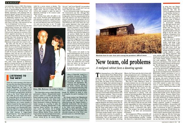 Article Preview: New team, old problems, April 1991 | Maclean's