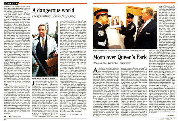 Article Preview: A dangerous world, April 1991 | Maclean's