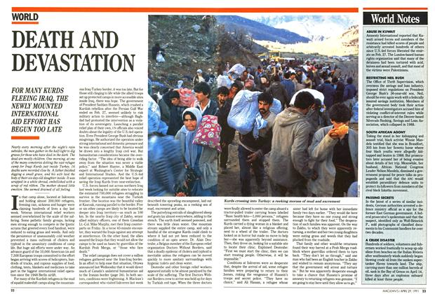 Article Preview: DEATH AND DEVASTATION, April 1991 | Maclean's