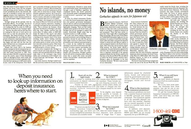 Article Preview: No islands, no money, April 1991 | Maclean's