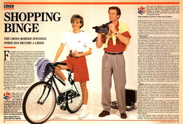 Article Preview: SHOPPING BINGE, April 1991 | Maclean's
