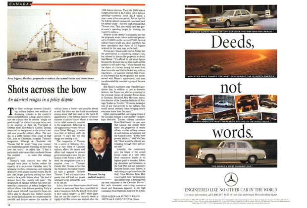Article Preview: Shots across the bow, May 1991 | Maclean's