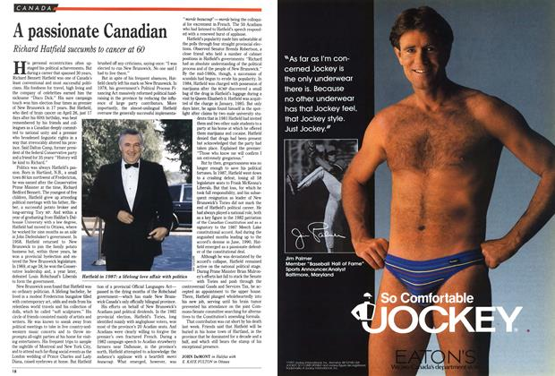 Article Preview: A passionate Canadian, May 1991 | Maclean's
