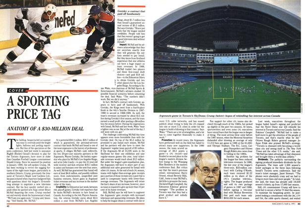 Article Preview: A SPORTING PRICE TAG, May 1991 | Maclean's