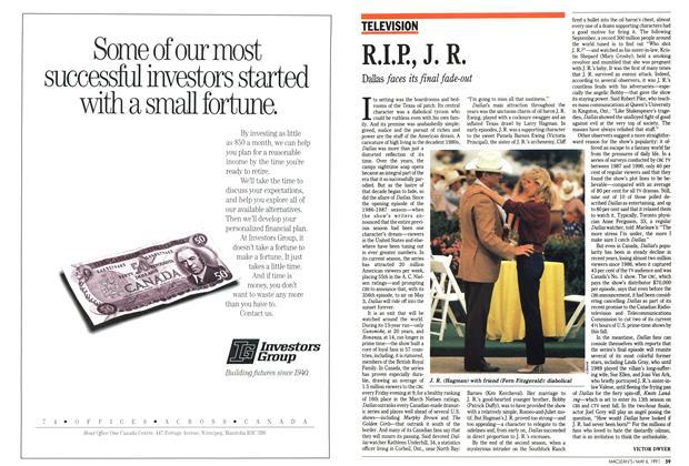 Article Preview: R.I.P, J. R., May 1991   Maclean's