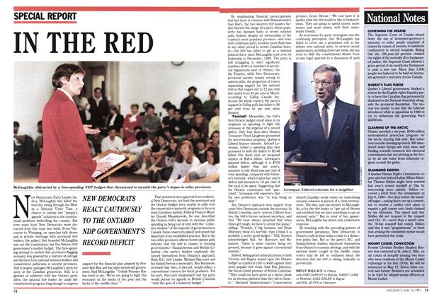 Article Preview: IN THE RED, May 1991 | Maclean's