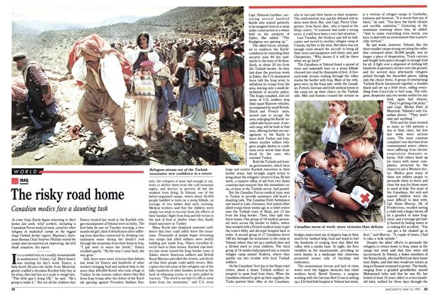 Article Preview: The risky road home, May 1991 | Maclean's