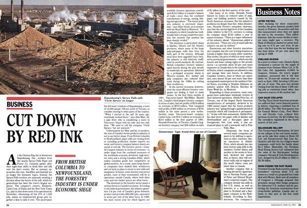 Article Preview: CUT DOWN BY RED INK, May 1991 | Maclean's