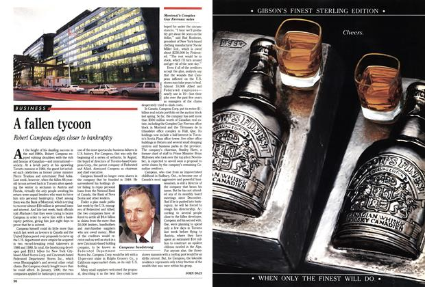 Article Preview: A fallen tycoon, May 1991 | Maclean's