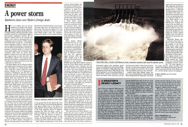 Article Preview: A power storm, May 1991 | Maclean's