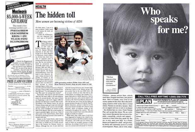 Article Preview: The hidden toll, May 1991 | Maclean's