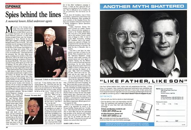 Article Preview: Spies behind the lines, May 1991 | Maclean's