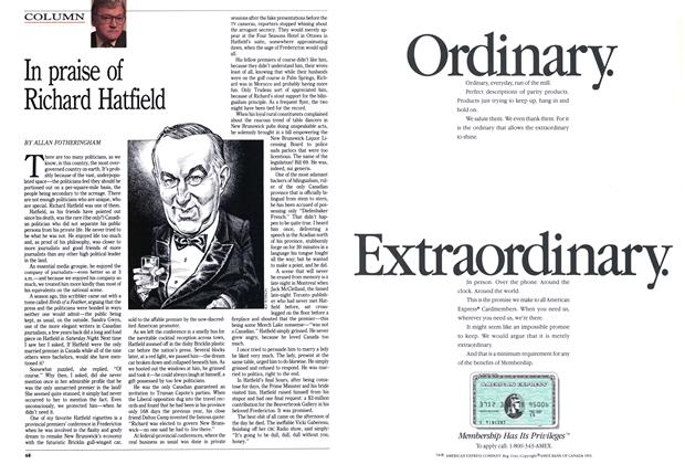 Article Preview: In praise of Richard Hatfield, May 1991 | Maclean's