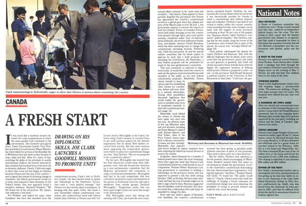 Article Preview: A FRESH START, May 1991 | Maclean's
