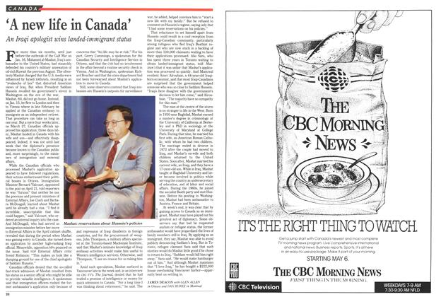 Article Preview: 'A new life in Canada', May 1991 | Maclean's